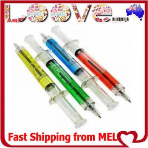 4x Syringe Pens Kids School Medical Nurse Doctor Novelty Gift Liquid Party Fun