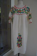 Crochet and Hand Embroidery Mexican Inspired Tunic,Sundress, Beach Cover Up