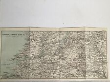1894 Original Antique County Map, Ireland, Tipperary, Limerick And Mayo