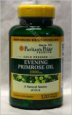 Puritan's Evening Primrose Oil 1000 mg with GLA 120 Softgels New Free Shipping