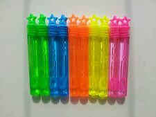 30 Mini BUBBLES wands NEON stars Childrens party birthday bag fillers