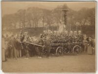 1900s Children's Flower Wagon in Parade Cabinet Card