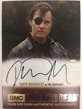 Walking Dead Season 4 PART 1 David Morrisey  - The Governor SILVER AUTOGRAPH DM1