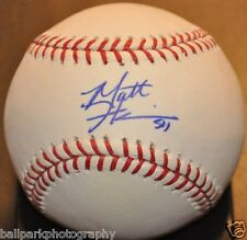 Matt Harrison 2010 2011 Texas Rangers - Phillies Autographed ML Baseball COA
