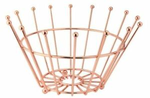 STYLISH COPPER WIRE FINISH FRUIT BASKET CROWN LARGE TABLE DECORATION NEW