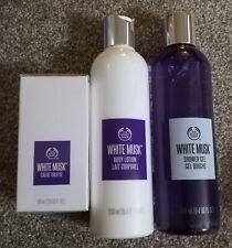 The Body Shop White Musk Eau De Toilette, Shower Gel & Body Lotion Set