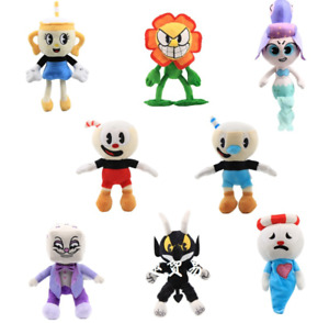 Cuphead & Mugman Plush Kids Toy Mecup And Brocup Stuffed Game Doll