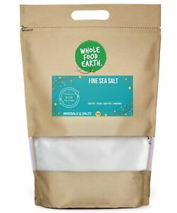 Fine Sea Salt    GMO Free   Vegan   Dairy Free   Unrefined
