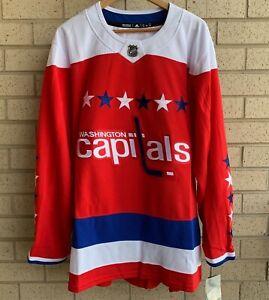 Adidas Washington Capitals Alternate Sweater Authentic NHL Jersey -Men's Size 60