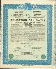 Emprunt 5% de 1932 ( BELGIQUE) (F)