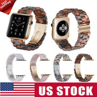 For Apple Watch Band Series 4 3 2 1 Tortoise shell Link Belt Strap 38/42/40/44mm