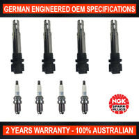 4x Genuine NGK Spark Plugs & 4x Ignition Coils for Volkswagen Polo 9N