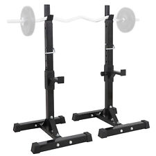 Barbell Power Rack Stand Gym Squat Heavy Duty Adjustable Press Weight Bench