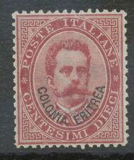 ITALIAN ERITREA 1893 King Umberto I 10 C overprint Colonia Eritrea UNUSED NO GUM