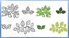 Heartfelt Creations Stamp & Die Combo  LEAFY ACCENTS Greenery, Vines -3835, 7193
