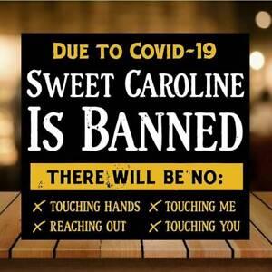 Funny Sweet Caroline SIGN METAl PLAQUE Shop Bar Man cave Pub home bar corona 19.