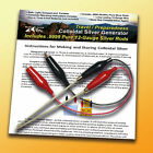 Colloidal Silver Generator Kit  .9999 99.99  Pure Silver 12-Gauge Wire Travel