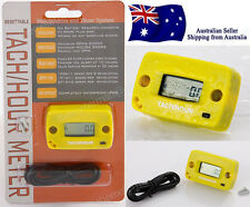 Yellow hour meter & tacho resettable chainsaw hedge trimmer generator engine