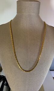 24K Gold Baht Box Chain Necklace 25.74 Grams