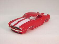 MODEL MOTORING RED W/WHITE STRIPES '69 CAMARO Z-28 SHELL ~ NEW~FITS AURORA TJET