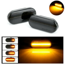 2PCS Dynamic LED Side Indicator Smoke Turn Signal Light For FORD SEAT SKODA VW