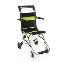 yuwell Portable Folding Travel Ultra Light Weight Transport Wheelchair,N.W 15lbs