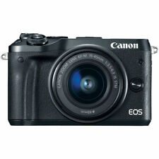 Canon EOS M6 Mirrorless Digital Camera with EF-M 15-45mm Camera Kit - Black
