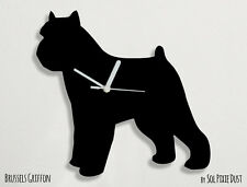 Brussels Griffon Dog Silhouette - Wall Clock