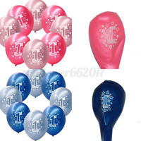 10PC1st First Birthday Favor Balloons For Party Wedding Supplies Decoration AU !