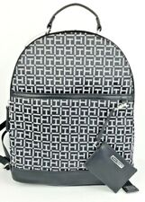 Tommy Hilfiger Large Black/White Jacquard TH Logo Backpack & Card Pouch