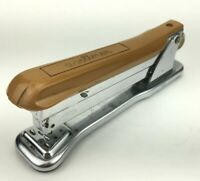 Aceliner Desk Stapler No. 502 Gold/Brown Chrome Base Vintage 70's Art Deco