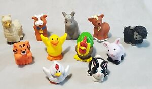 11 x Fisher Price Little People farm animal 1997 / 2014 toy figures