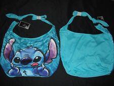 Cute Nwt Blue Lilo And Stitch Alien Hawaiian Disney Sketch Hobo Tote Bag Purse