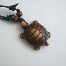 1Pc Ethnic Tribal Faux Yak Bone Carving Sea Turtle Pendant Surfer Necklace New