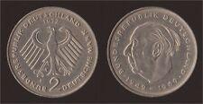 GERMANIA GERMANY 2 MARK 1972 F THEODOR HEUSS