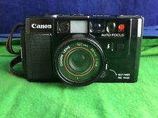 Hermosa Vieja Escuela Vintage Canon AF35 35 mm cámara con lente de 38 mm 1:2 .8 RD8743