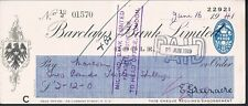 Cheque Barclays Bank Limited 1941 Goole Rama