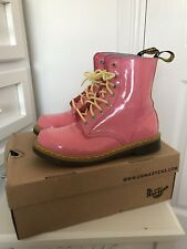 Ladies Dr.Martens Pink & Yellow Boots Size 6 *Rare*