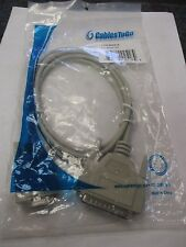 Cables to Go #02518 New 25-pin Male to 9-pin Female Beige Modem Cable (QTY 8)