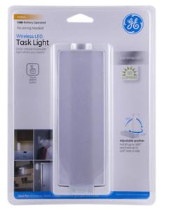 GE Wireless LED Task Light, Swivel, 50 Lumens, Soft White, 12717 (Set of 2)