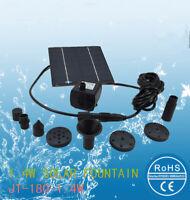 180L/H Pompa Solare Pannello per Giardino Fontana/Stagno Irrigazione e Decorati