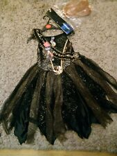 Halloween girls costumes 5-6 Years Black dress fancy party black