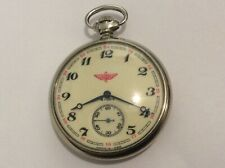 Vintage Russian Made in USSR 18 Rubis Pocket Watch Runs Great!