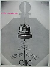 PUBLICITE PARFUM DUO D'ORSAY DANDY D'APRES ANDREY CASIMIR DE 1929 FRENCH AD PUB