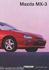Mazda MX-3 Prospekt 3.3.97 car brochure 1997 Auto Autoprospekt PKWs Japan Asien