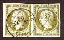 timbre france, n°11, 1c empire, TB, Obl, cote 200e, signe calves