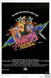 Phantom of the paradise cult horror movie poster print