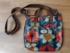 Fossil Keyper flower print Floral pvc Coated Canvas Crossbody bag Purse