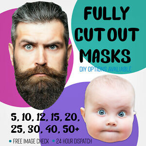Face Masks Personalised Photo Assembled Or DIY Kits String Or Sticks Wholesale