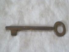 "antique skeleton key rusty vintage old iron lock hardware solid metal 5 1/4"" .1D"